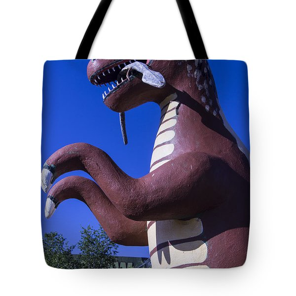 Roadside Dinosaur Tote Bag