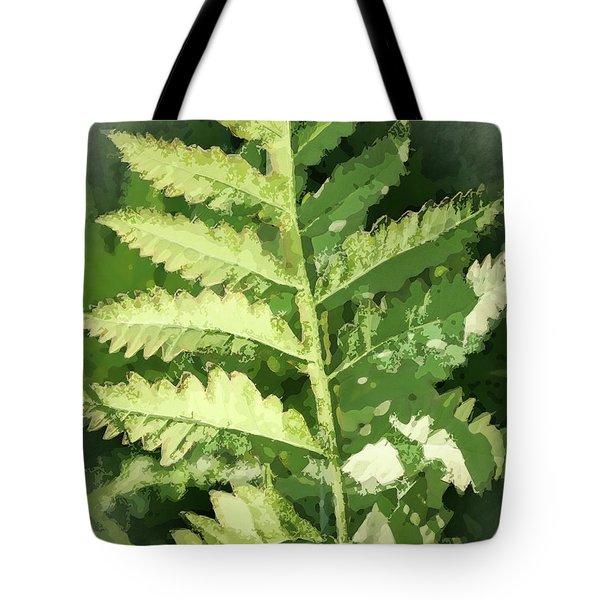 Roadside Fern, Abstract 2 - Tote Bag