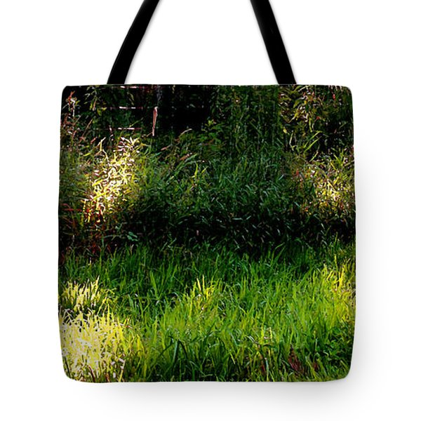 Tote Bag featuring the photograph Roadside Green Palette In Sunlight by Charlie Spear