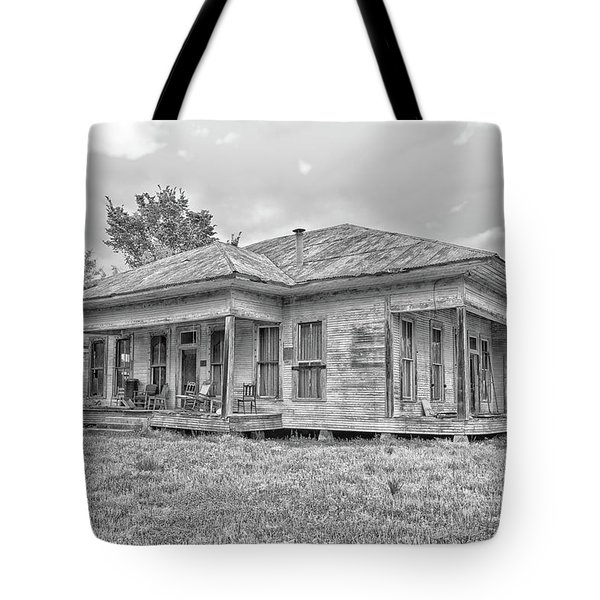 Roadside Old House Tote Bag
