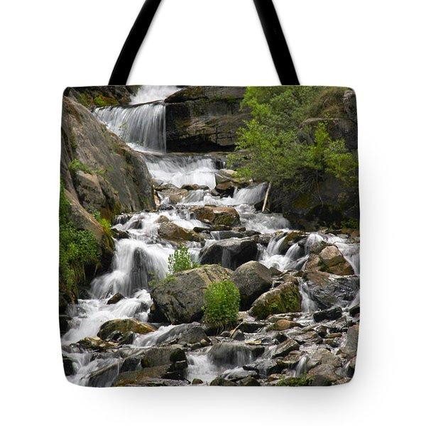 Roadside Mountain Stream Tote Bag by Mike McGlothlen
