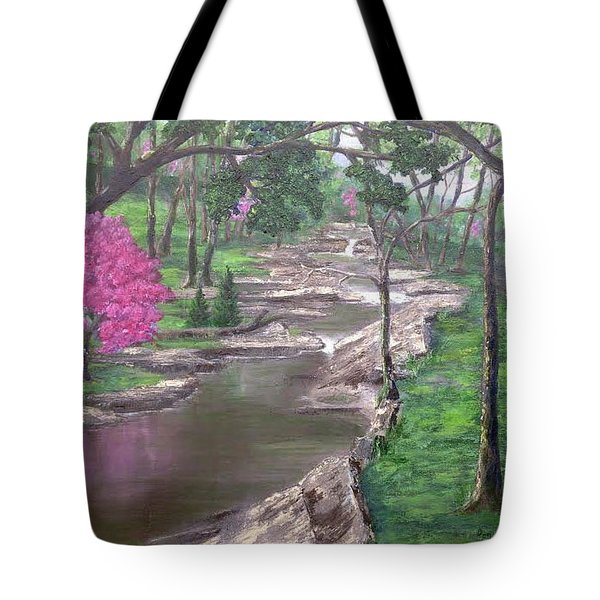 Roadside Park 1  Tote Bag by T Fry-Green