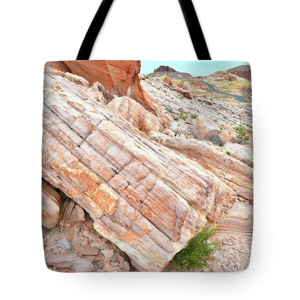 Tote Bag featuring the photograph Roadside Sandstone In Valley Of Fire by Ray Mathis