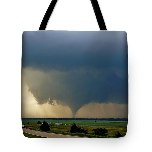 Tote Bag featuring the photograph Roadside Twister by Ed Sweeney