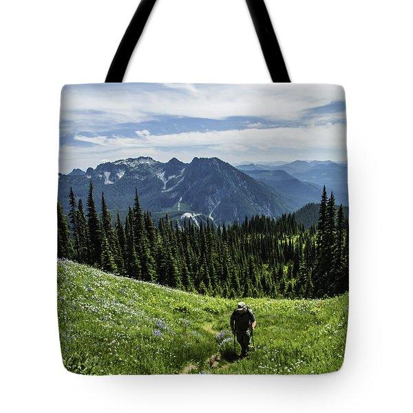 Roaming Above The Trees. Tote Bag