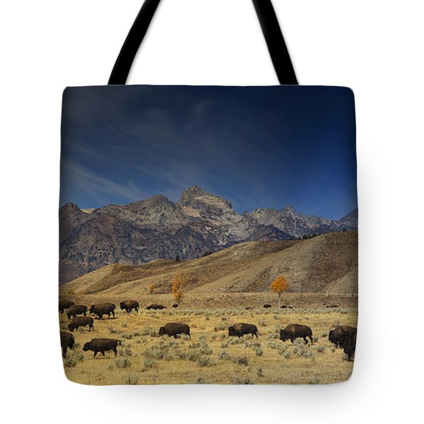 Roaming Bison Tote Bag