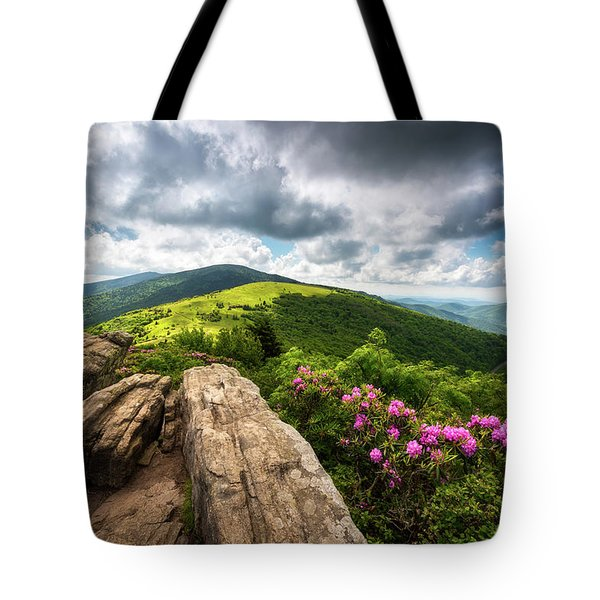Roan Mountain Radiance Appalachian Trail Nc Tn Mountains Tote Bag