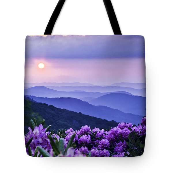 Roan Mountain Sunset Tote Bag by Rob Travis
