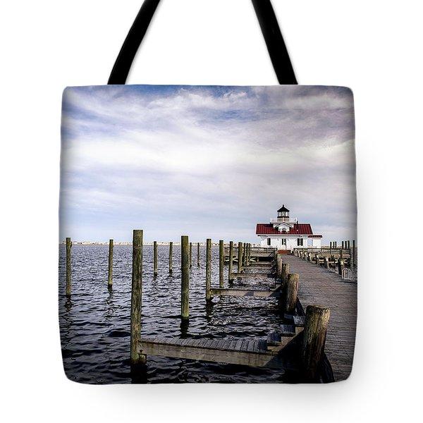 Roanoke Lighthouse - Manteo North Carolina Tote Bag
