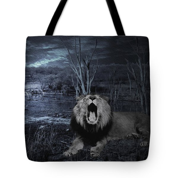 Roar Of The Asiatic Lion  Tote Bag