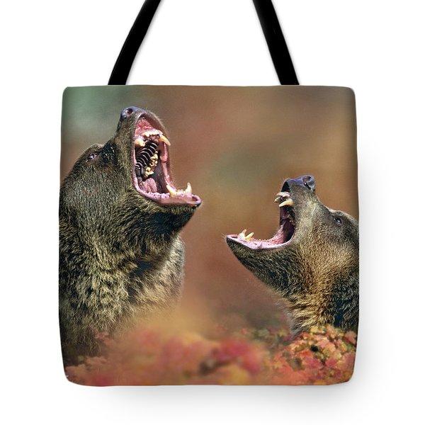 Roaring Bears Tote Bag