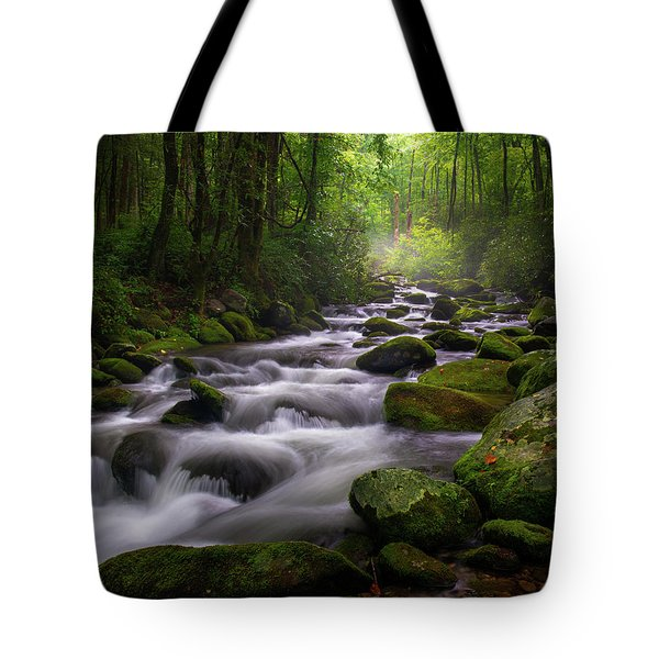 Great Smoky Mountains Roaring Fork Gatlinburg Tennessee Tote Bag