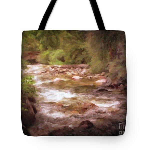Roaring Fork River Tote Bag