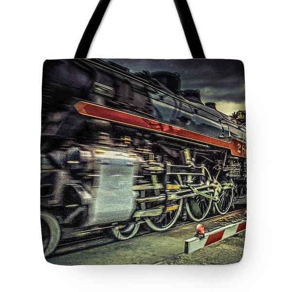 Roaring Past Tote Bag