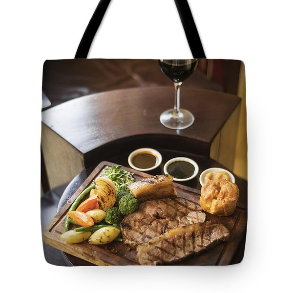Roast Beef And Vegetables Classic British Meal Tote Bag