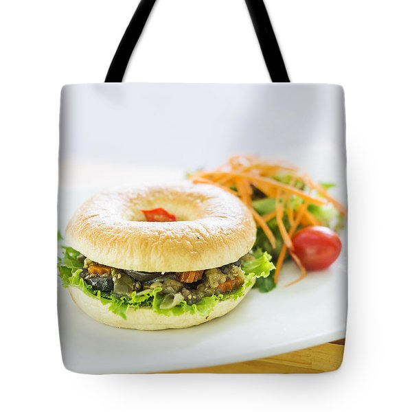 Roast Vegetable Vegetarian Bagel Tote Bag
