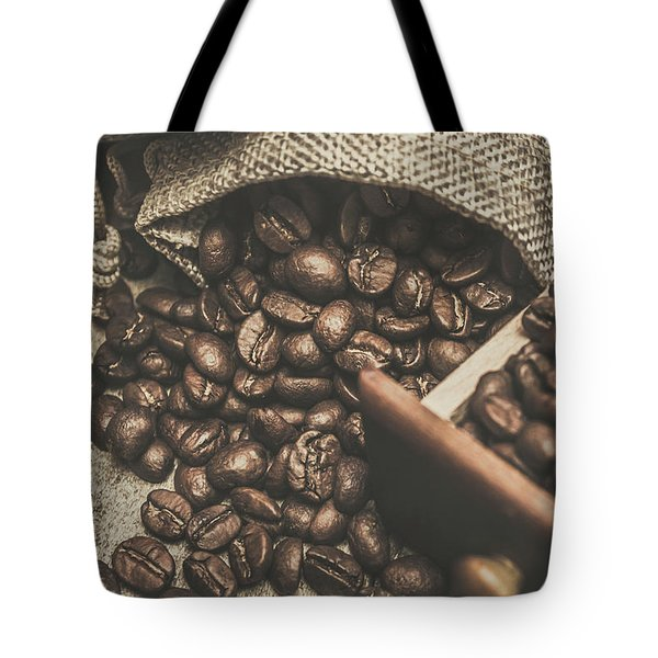Roasted Coffee Beans In Close-up  Tote Bag