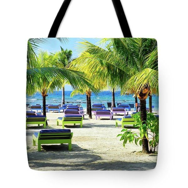 Roatan Island Resort Tote Bag