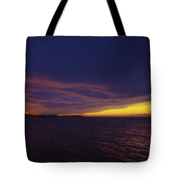 Roatan Sunset Tote Bag by Stephen Anderson