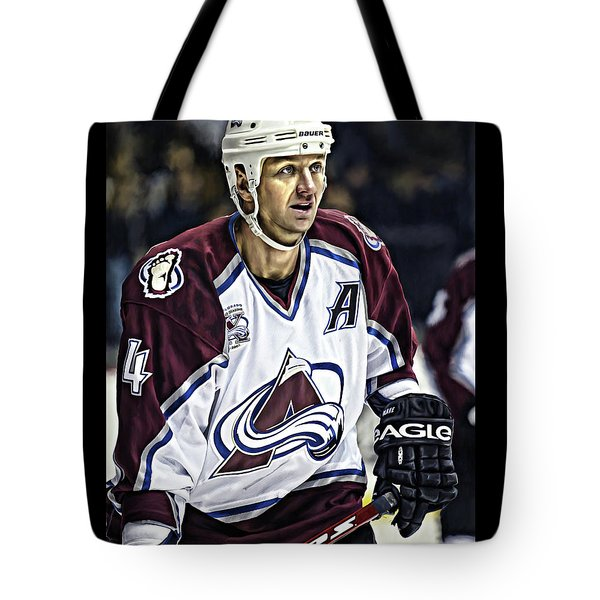 Tote Bag featuring the photograph Rob Blake 1 by Don Olea