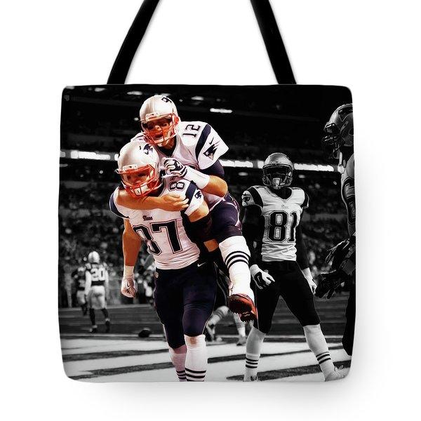 Rob Gronkowski And Tom Brady Tote Bag
