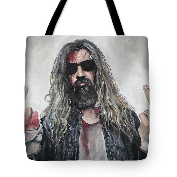 Rob Zombie Tote Bag by Tom Carlton