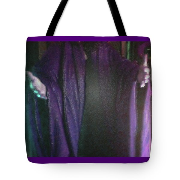 Tote Bag featuring the digital art Robed Arms by Michelle Audas