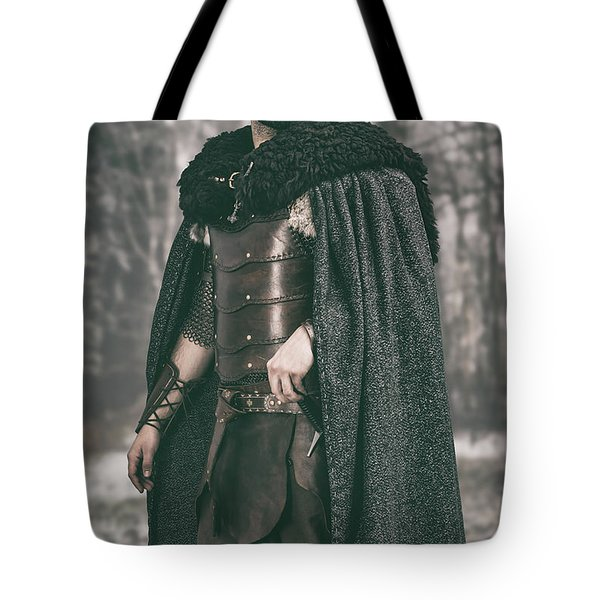 Robed Viking In The Woods Tote Bag
