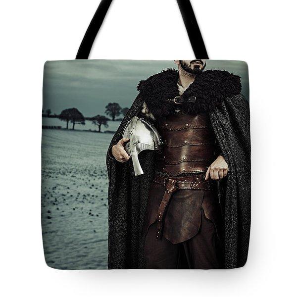 Robed Viking With Helmet Tote Bag