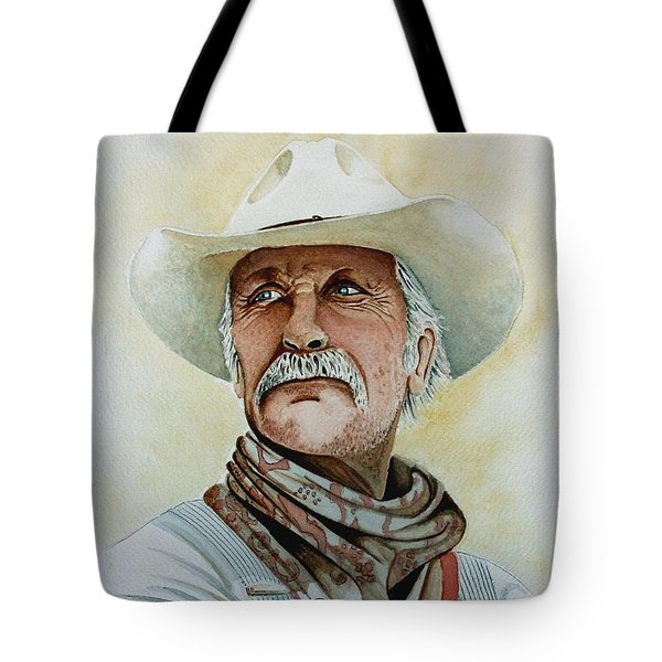 Robert Duvall As Augustus Mccrae In Lonesome Dove Tote Bag by Jimmy Smith