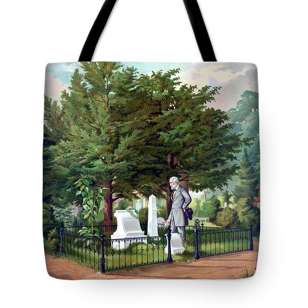 Robert E. Lee Visits Stonewall Jackson's Grave Tote Bag
