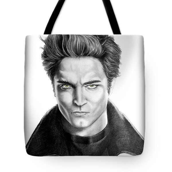Robert Pattinson - Twilight's Edward Tote Bag by Murphy Elliott