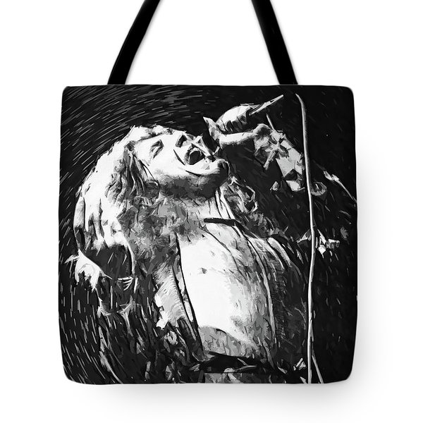 Robert Plant Tote Bag by Taylan Apukovska