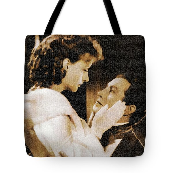 Robert Taylor And Greta Garbo Tote Bag