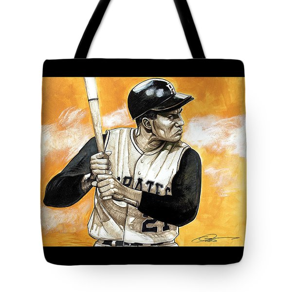 Roberto Clemente Tote Bag by Dave Olsen
