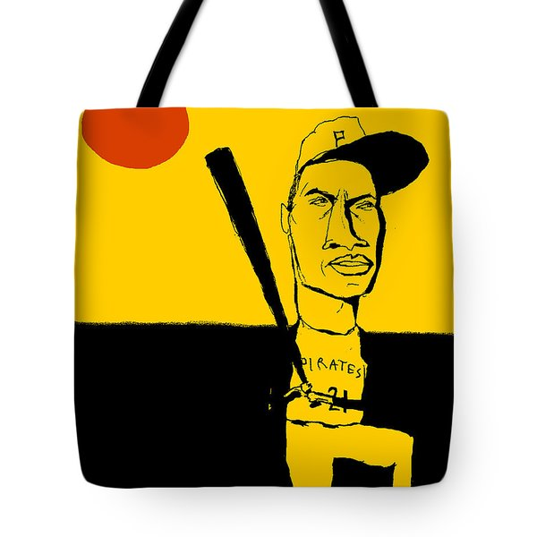 Roberto Clemente Pittsburgh Pirates Tote Bag by Jay Perkins