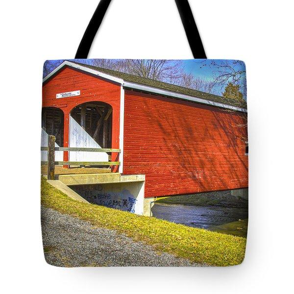 Roberts Covered Bridge Tote Bag