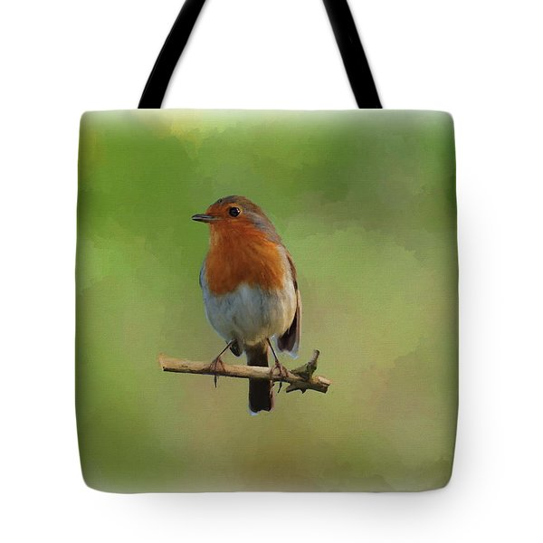 Tote Bag featuring the digital art Robin-1 by Paul Gulliver