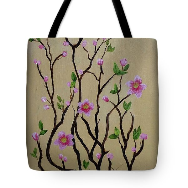 Robin And Spring Blossoms Tote Bag