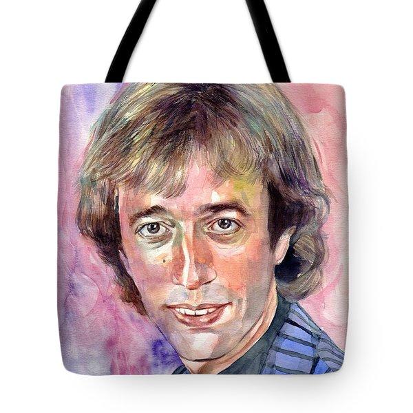 Robin Gibb Portrait Watercolor Tote Bag