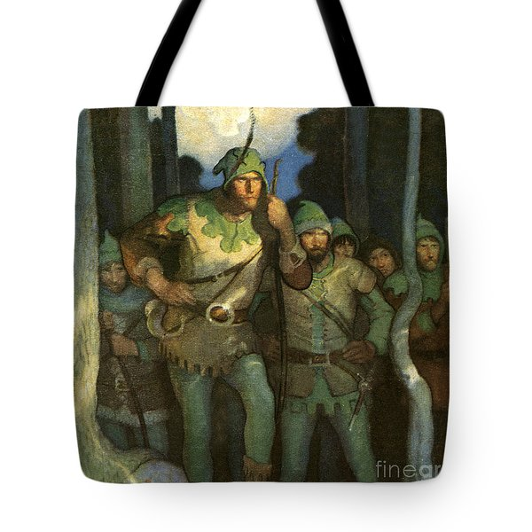 Robin Hood And His Merry Men Tote Bag by Newell Convers Wyeth