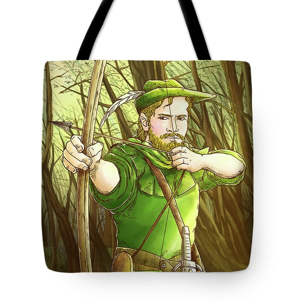 Robin  Hood In Sherwood Forest Tote Bag by Reynold Jay