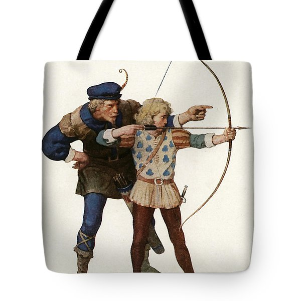 Robin Hood Trains A Young Archer Tote Bag