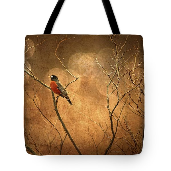 Robin Tote Bag by Lois Bryan