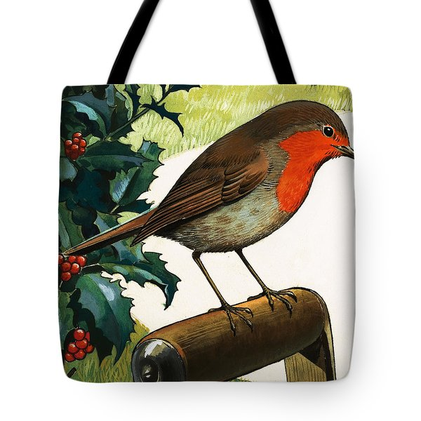 Robin Redbreast Tote Bag by English School