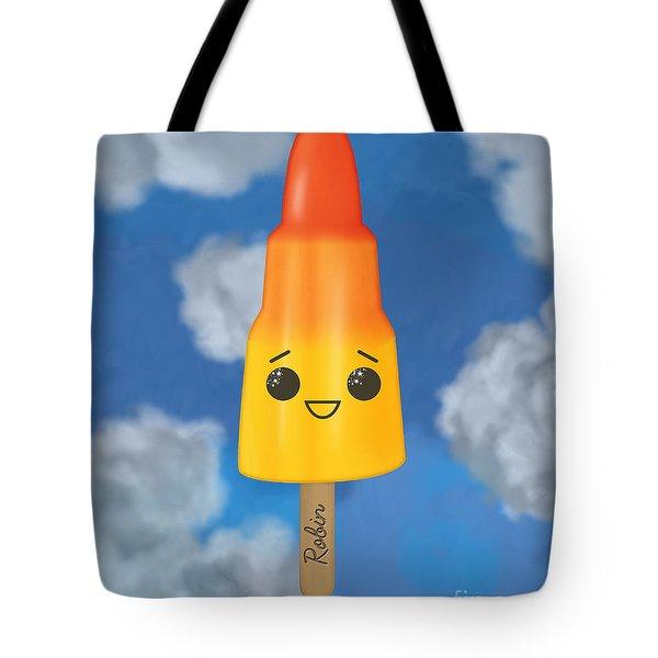 Robin Rocket Tote Bag