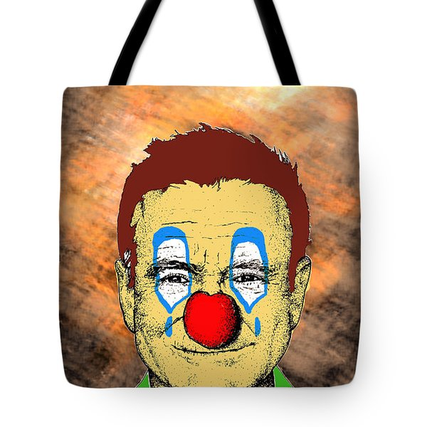 Tote Bag featuring the drawing Robin Williams 1 by Jason Tricktop Matthews