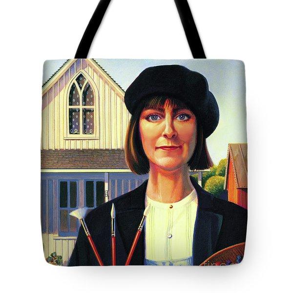 Robin Wood Self-portrait Tote Bag