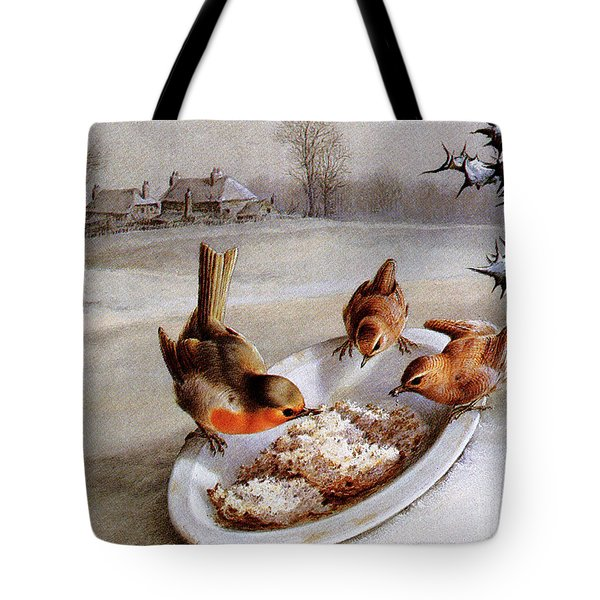 Robins And Wrens  Winter Breakfast Tote Bag