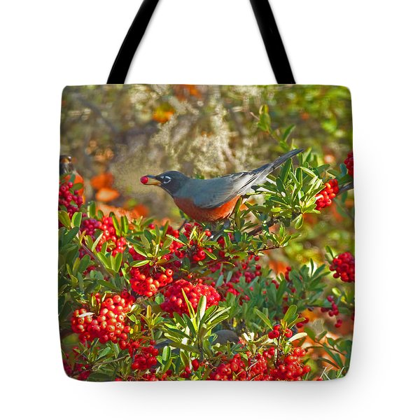 Robins Berry Feast Tote Bag